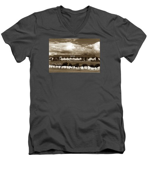 The Fort Ord Station Hospital Administration Building T-3010 Building Fort Ord Army Base Circa 1950 Men's V-Neck T-Shirt