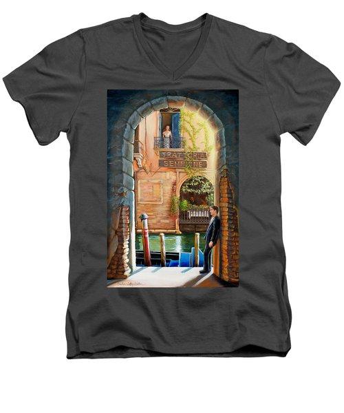 Thinking Of You Trattoria Sempione San Marco 578 Venezia Men's V-Neck T-Shirt