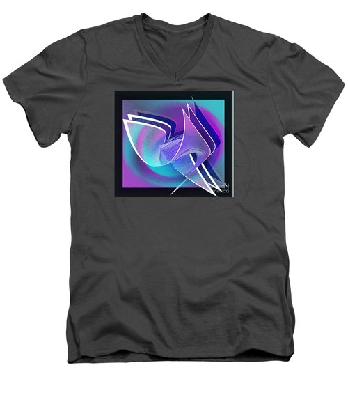 Twisted Linen Men's V-Neck T-Shirt by Iris Gelbart