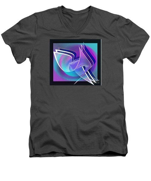 Twisted Linen Men's V-Neck T-Shirt