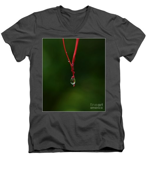 Waterdrop Men's V-Neck T-Shirt by Michelle Meenawong