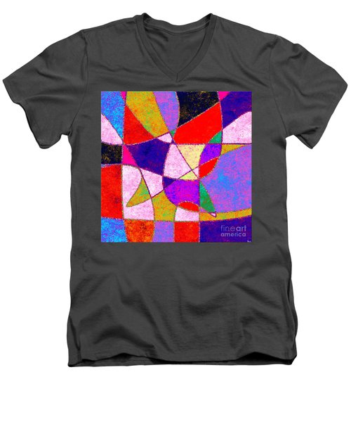 0269 Abstract Thought Men's V-Neck T-Shirt