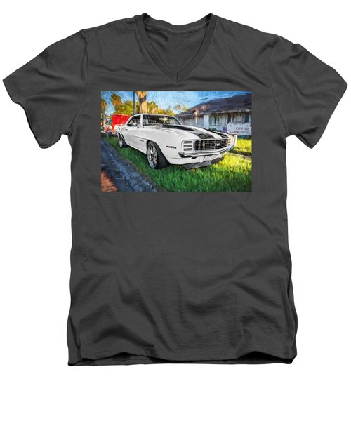 1969 Chevy Camaro Rs Painted  Men's V-Neck T-Shirt