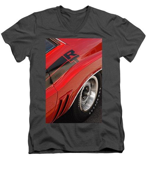 Men's V-Neck T-Shirt featuring the photograph 1970 Dodge Challenger R/t by Gordon Dean II