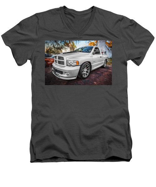 2004 Dodge Ram Srt 10 Viper Truck Painted Men's V-Neck T-Shirt