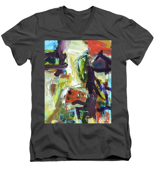 Abstract Cow Men's V-Neck T-Shirt