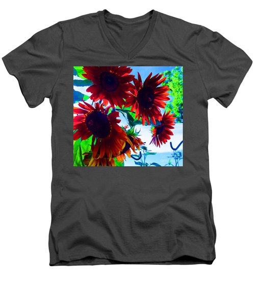 Men's V-Neck T-Shirt featuring the photograph All Together Now by Tina M Wenger