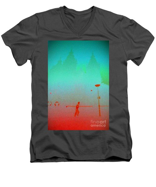 Amsterdam Evening Men's V-Neck T-Shirt