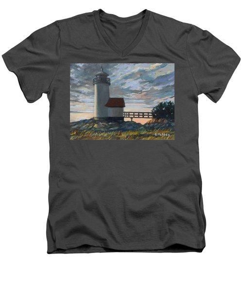 Annisquam Light Men's V-Neck T-Shirt by Eileen Patten Oliver