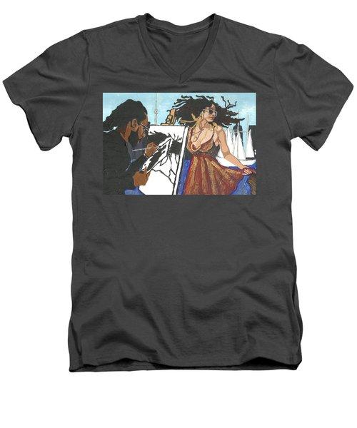 Artist At Work Men's V-Neck T-Shirt