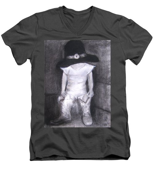 Aspiring Cowboy Men's V-Neck T-Shirt