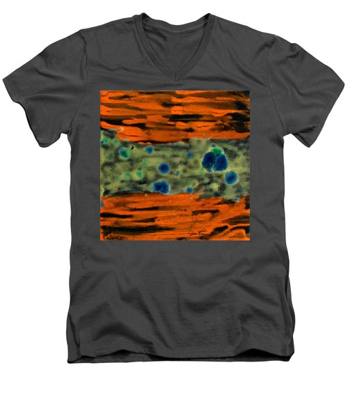 Men's V-Neck T-Shirt featuring the painting Autumn Breeze by Joan Reese
