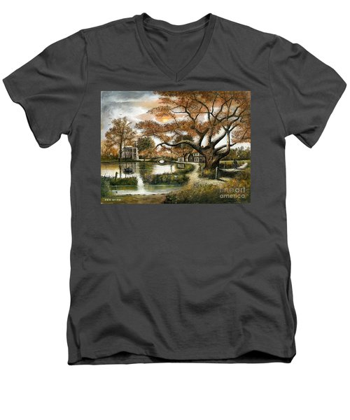 Autumn Stroll Men's V-Neck T-Shirt