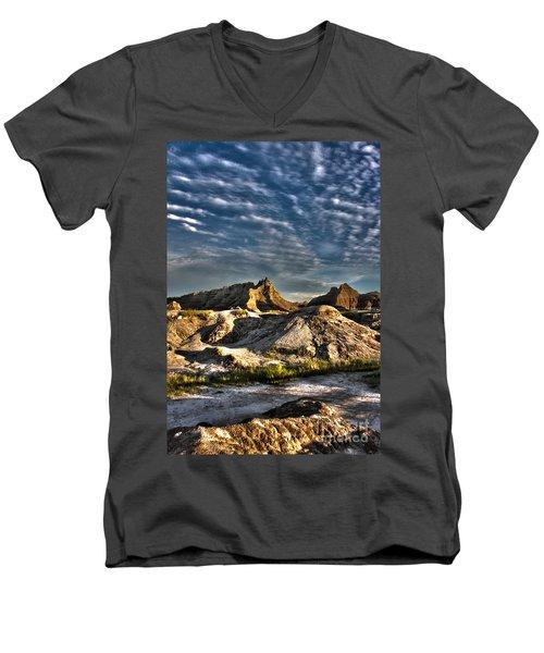 Badlands National Park Sunset Men's V-Neck T-Shirt