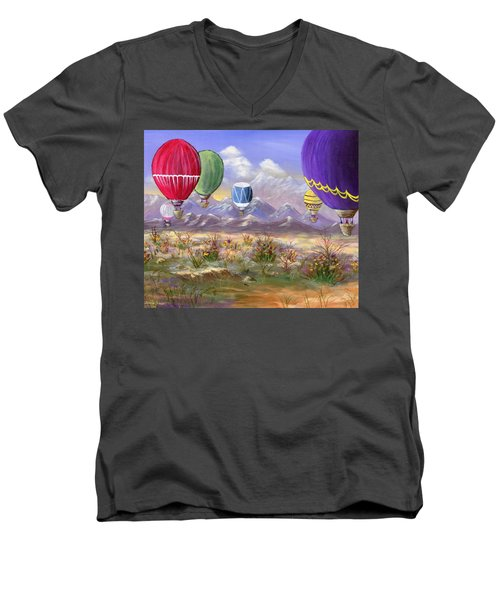 Men's V-Neck T-Shirt featuring the painting Balloons by Jamie Frier