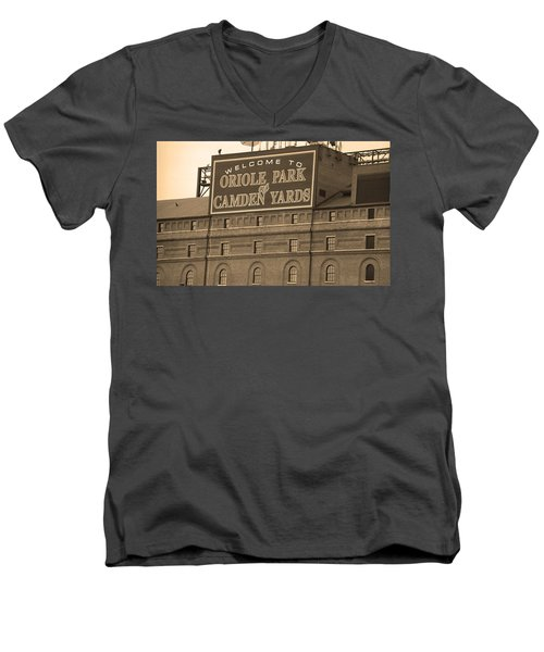 Baltimore Orioles Park At Camden Yards Men's V-Neck T-Shirt