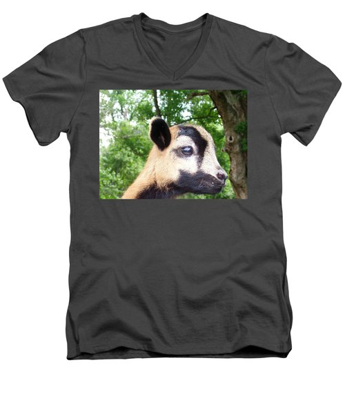 Men's V-Neck T-Shirt featuring the photograph Bambi by Belinda Lee