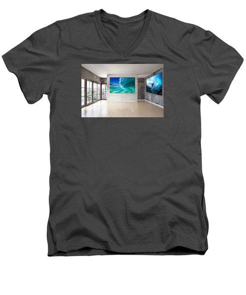 Barrel Swirl Men's V-Neck T-Shirt