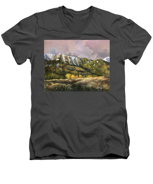Men's V-Neck T-Shirt featuring the painting Bear Claw by Lynne Wright