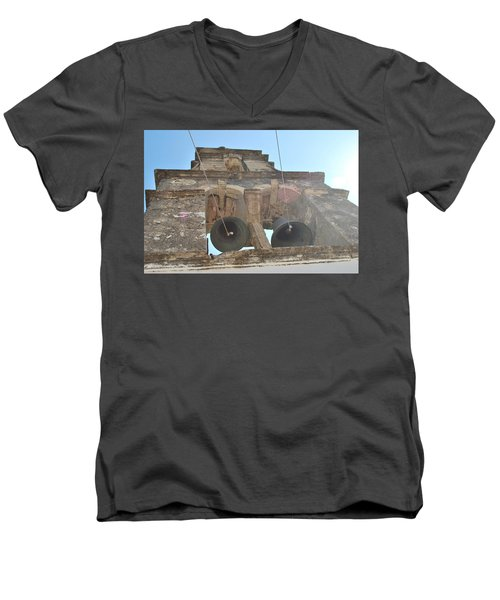 Men's V-Neck T-Shirt featuring the photograph Bell Tower 1584 by George Katechis