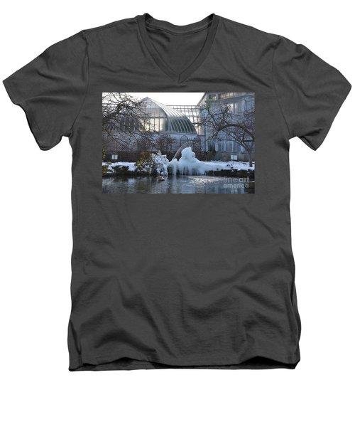 Belle Isle Conservatory Pond 2 Men's V-Neck T-Shirt