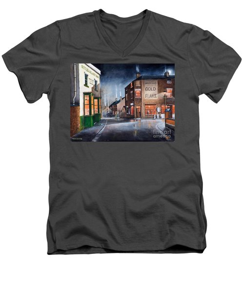 Black Country Village Centre Men's V-Neck T-Shirt