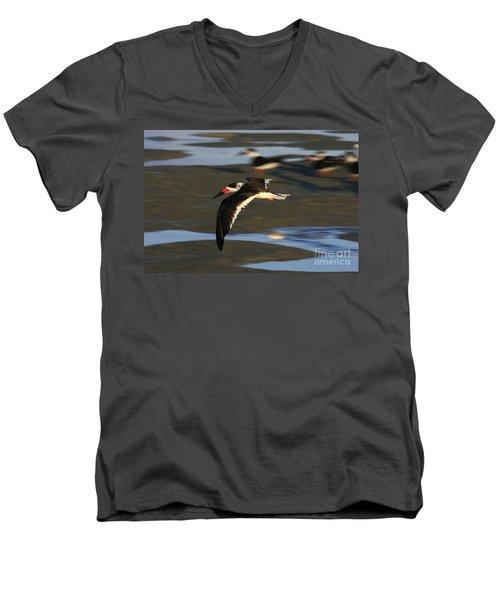 Black Skimmer Beach Men's V-Neck T-Shirt