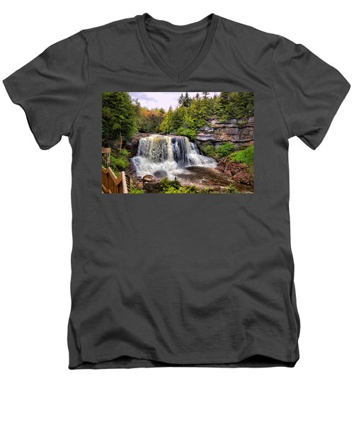 Blackwater Falls Sp Men's V-Neck T-Shirt