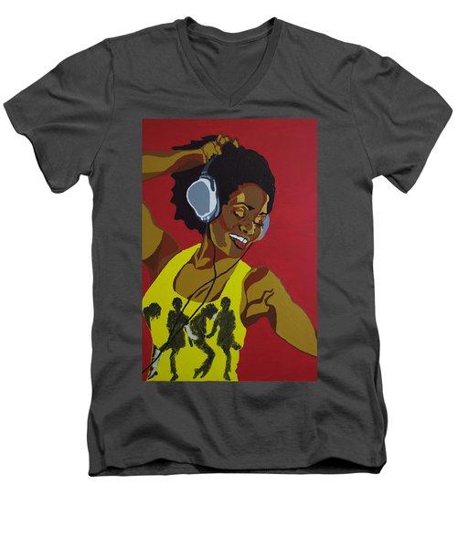 Blame It On The Boogie Men's V-Neck T-Shirt