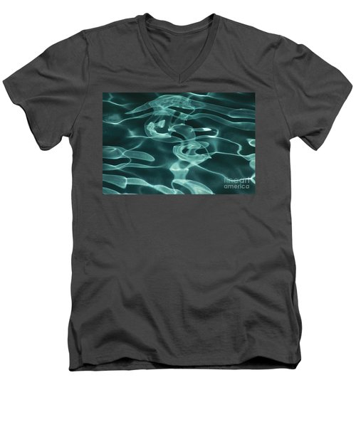 Blue Swirl Two Men's V-Neck T-Shirt