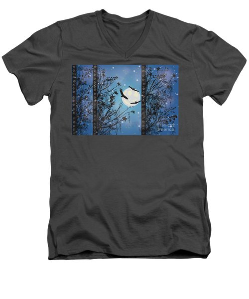 Blue Winter Men's V-Neck T-Shirt by Kim Prowse
