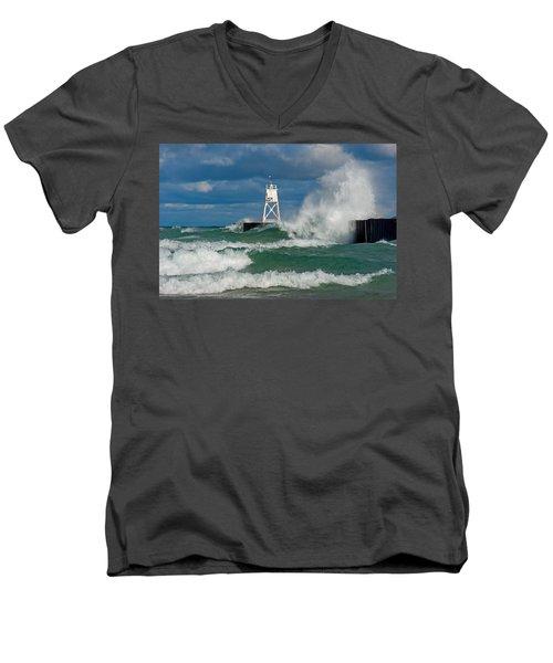 Break Wall Waves Men's V-Neck T-Shirt