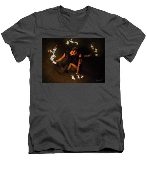 Burning Passion Men's V-Neck T-Shirt