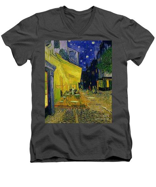 Cafe Terrace Arles Men's V-Neck T-Shirt