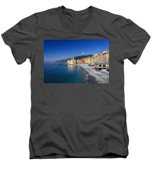 Men's V-Neck T-Shirt featuring the photograph Camogli - Italy by Antonio Scarpi