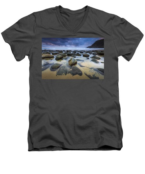 Campelo Beach Galicia Spain Men's V-Neck T-Shirt