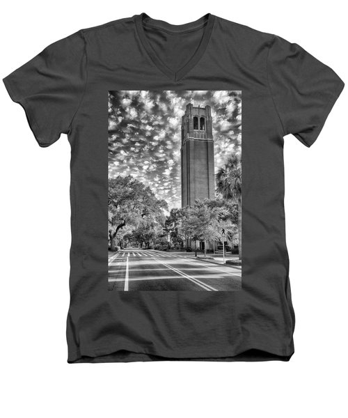 Century Tower  Men's V-Neck T-Shirt by Howard Salmon