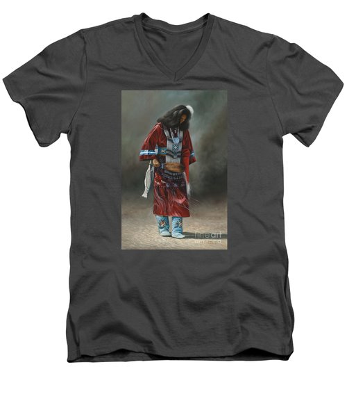 Ceremonial Red Men's V-Neck T-Shirt