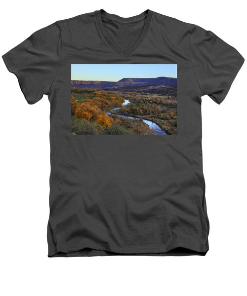 Chama River At Sunset Men's V-Neck T-Shirt