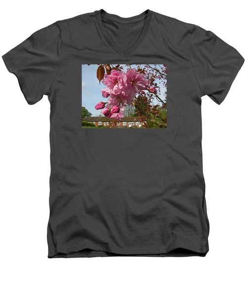 Cherry Blossom Spring Men's V-Neck T-Shirt