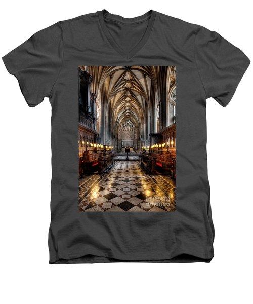 Church Interior Men's V-Neck T-Shirt