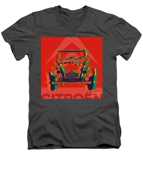 Citroen 2cv Men's V-Neck T-Shirt