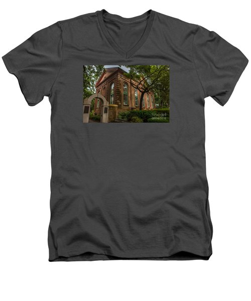 College Of Charleston Campus Men's V-Neck T-Shirt