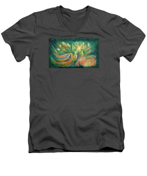 Conception Men's V-Neck T-Shirt by Becky Chappell