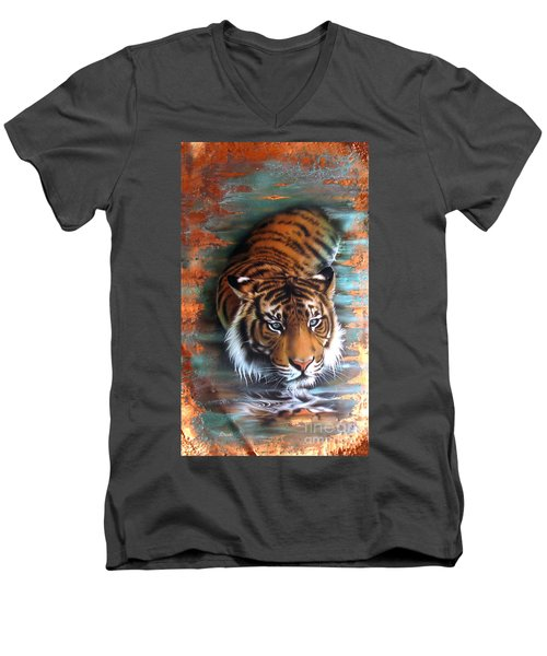 Copper Tiger II Men's V-Neck T-Shirt