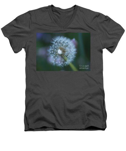 Dandelion Men's V-Neck T-Shirt by Alana Ranney