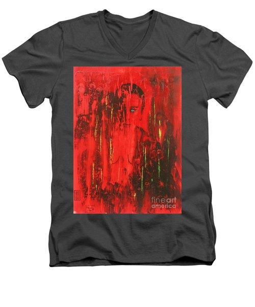 Dantes Inferno Men's V-Neck T-Shirt by Roberto Prusso