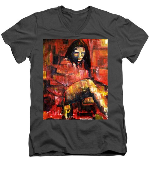 Fractured Men's V-Neck T-Shirt