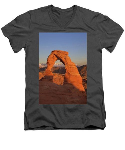 Delicate Arch At Sunset Men's V-Neck T-Shirt