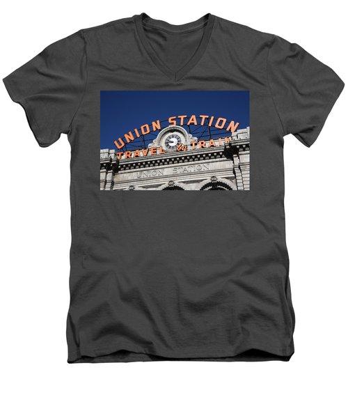 Denver - Union Station Men's V-Neck T-Shirt